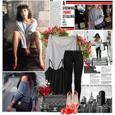 Would You Wear It: Flashdance, created by anitalolonga on Polyvore - This was me... back in the day.  Such happy memories. :)