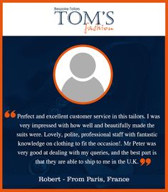 Strive not to be a success, but rather to be of value. #TomsFashion  #Services #Customers #Bangkoktailors