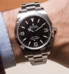 Rolex Explorer 214270 Watch For 2016 Hands-On Rolex Submariner, Rolex 214270, Rolex Logo, Rolex Watches For Men, New Rolex, Sport Watches, Luxury Watches, Cool Watches, Dream Watches