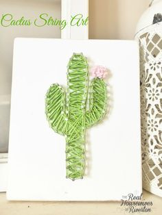 Tutorial for this darling Cactus String Art so you can make your very own!! - housewivesofriverton.com