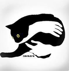 Dibujo gatos and google on pinterest El gato negro decoracion