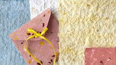 Project from Lowe's - make your own decorative paper