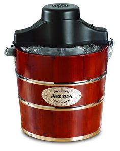 Aroma Housewares 4-Quart Traditional Ice Cream Maker, Fir Wood ** This is an Amazon Affiliate link. Click image to review more details.