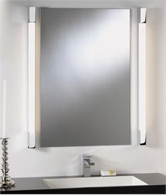 Over Mirror Light - Square Edges - LED or Fluorescent