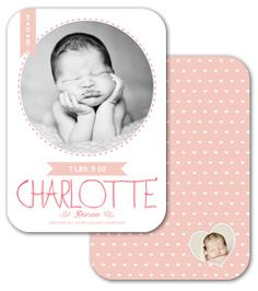 Love this sweet Baby Announcement - Photoshop template by The Album Cafe.