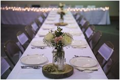wedding reception table. simple rustic chic wedding reception setup // photo by erin krizo - lasting snapshots