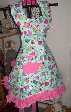 Cupcake Dream Retro Bib Apron in my Etsy Store and on Ebay