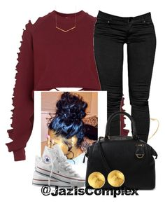 Untitled #31 by jaziscomplex on Polyvore featuring polyvore, fashion, style, The Ragged Priest, Converse, Michael Kors, Gurhan, Meira T and Gorjana