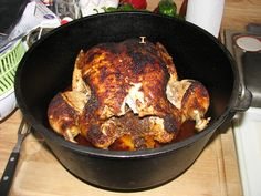 dutch oven, cast iron, roasted chicken recipe