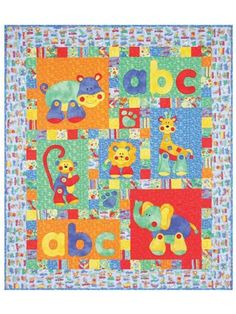Alphabet Jungle Quilt Pattern