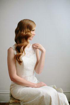 diy | classic hollywood waves hair tutorial | via: grey likes weddings