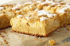 Wie macht man Apfelkuchen vom Blech
