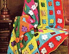 INSTANT DOWNLOAD PDF Vintage Crochet patrón para Sampler