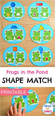 This Fun Printable Shape Match activity will help you kids see and identify shapes in everyday objects! #shapematch #printablesforkids #preschool
