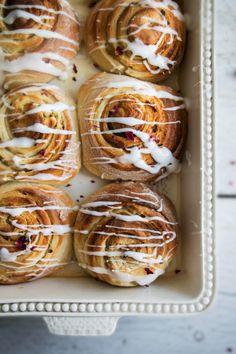 rhubarb and rose sticky buns - twigg studios