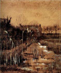Ditch - Vincent van Gogh, 1884