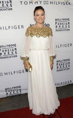 Olivia Wilde en robe Marchesa lors du festival du film international de Toronto en 2012.