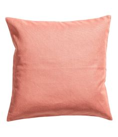 2 for Kitchen Bench  Coral Cushion cover in cotton canvas with a concealed zip.