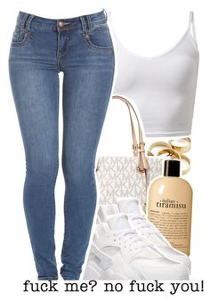 """""""Untitled #689"""" by ice-cream-yummers ❤ liked on Polyvore featuring Michael Kors, philosophy and NIKE"""