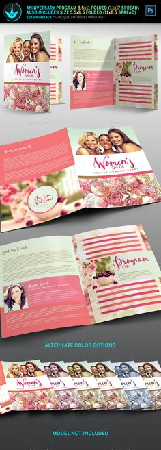 Breast Cancer Charity Event Program Template  Psd Template