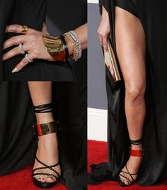 Jennifer Lopez Gets Leggy in Tom Ford Shoes for the Grammys.