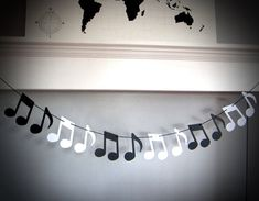 Music Note Garland Music Recital Music Teacher Gift Music Theme Party Black and White Musical Notes Customizable Music Notes Decor Music Theme Birthday, Music Themed Parties, Birthday Party Themes, Birthday Kids, Music Notes Decorations, Graduation Decorations, Music Teacher Gifts, Music Teachers, Music Gifts
