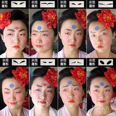 Chen Yanhui, taiwanese girl mimicking Tang Dynasty makeups