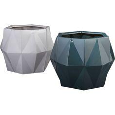 "<span class=""copyHeader"">what a gem.</span> Handmade from eco-friendly clay, earthenware angles form diamond-like facets from rounded base to tapered top.<br /><br /><NEWTAG/><ul><li>Handmade</li><li>100% eco-friendly earthenware</li><li>Each will be unique</li><li>Drainage hole at bottom</li><li>Indoor or outdoor use</li><li>Wipe with a soft, dry cloth</li><li>Made in Vietnam</li></ul><br />"