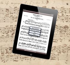 Sheet music on the iPad from ComposerBase.  Easy to search, email and print off sheet music.   www.composerbase.com  Direct to the iTunes store: https://itunes.apple.com/us/app/composerbase/id569307736