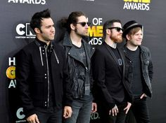 I like how Pete, Joe, and Andy look all cool and bad-ass and then Patrick is just...: