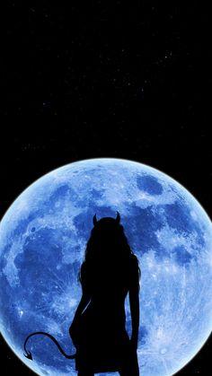 Moon Devil Girl IPhone Wallpaper - IPhone Wallpapers