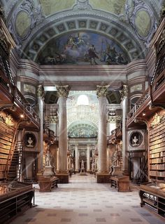 Imperial Library in Wien - Wall Mural & Photo Wallpaper - Photowall