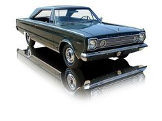 1966 Dark Geen Plymouth Satellite 426 HEMI V8. My first car, only with a 383.