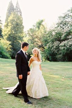 Love this bride and groom photo. Walking with the capital in the background?