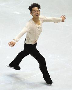 DETROIT, MI - OCTOBER 19: Daisuke Takahashi of Japan performs during the Men's free skate of day two at Skate America at Joe Louis Arena on ...