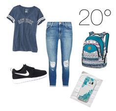 """""""SummerSchool"""" by lifestyle-outfits on Polyvore featuring Old Navy, J Brand, NIKE, Dakine and Samsung"""