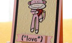 Crafts n' things Weekly - monkey love card
