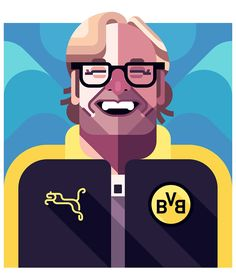 Football Players Vector Illustrations by Daniel Nyari