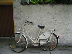beautiful white vintage bike