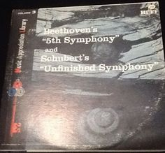 Beethoven's 5th Symphony and Schubert's Unfinished Symphony Paris LP vinyl Vol.3