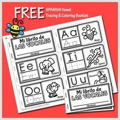 HoneyBops: FREE Spanish Vowel Tracing and Coloring Booklet for Preschoolers Preschool Spanish, Spanish Lessons For Kids, Learning Spanish For Kids, Spanish Basics, Spanish Teaching Resources, Elementary Spanish, Spanish Activities, Spanish Language Learning, Spanish Class