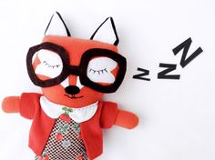 Louise the retro red fox plush with brown by OneLittleRedFox, €58.00
