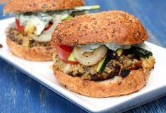 Stuffed Portabella Burgers with Grilled Summer Veggies