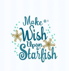 Starfish svg decor sign Make a wish upon a by JenCraftDesigns
