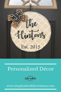 Personalized Family Name Door Hanger Country Wedding Groom, Fall Wedding, Bride Gifts, Wedding Gifts, New Homeowner Gift, Bride And Groom Pictures, Porch Decorating, Decorating Ideas, Gift Ideas