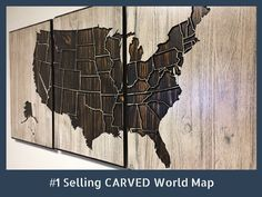 Large US Wooden Map, Carved Wood Wall Art, Home Wall Decor, USA Map, American Map, Rustic, Luxury Wall Decor, Office Wall Decor by HowdyOwl on Etsy