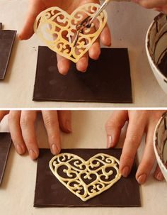 Love chocolate decorations