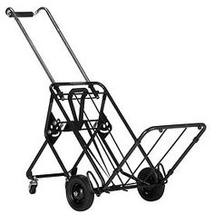 Four Wheel Folding Cargo & Luggage Cart 250 Lb. Capacity by NORRIS PRODUCTS CORP. $82.95. FOUR WHEEL FOLDING CARGO & LUGGAGE CART Lower tray and front wheels keep loads from tipping Rear wheels fold up flush to the cart for easy storage Rear wheels stabilize the load, takes the weight off your back and arms Easily raise and lower rear wheels with foot Elastic straps Limited Lifetime Waranty 22.00 L. 17.50 W. 43.00 H.