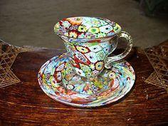 Vecchio cestino in ceramica rometti umbertide anni posot class