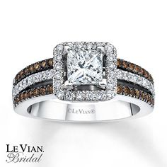 Le Vian Bridal Chocolate Diamonds 14K Gold Engagement Ring. I like chocolate diamonds!